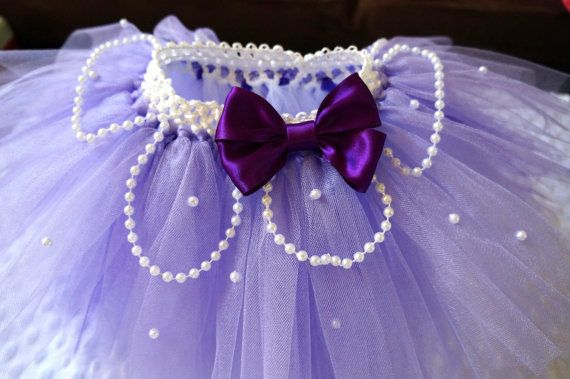 La Sofía el primer tutú púrpura blanco y perlas