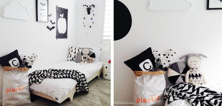 Habitación infantil monocromática en estilo nórdico - http://www.decoora.com/habitacion-infantil-monocromatica-estilo-nordico/