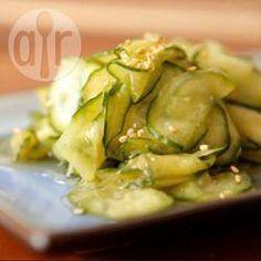 Ensalada japonesa de pepino (Sunomono) @ allrecipes.com.mx
