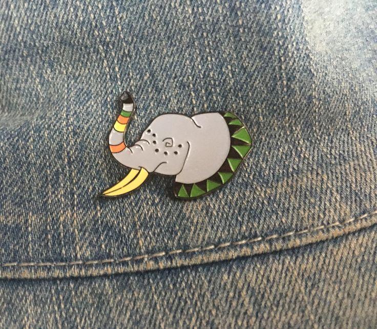 Mighty Elephant enamel pin