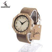 Bobo bird d03 новый top brand design часы кварца япония наручные часы натуральная кожа мужчины женщин luxulry группа зебра древесины смотреть