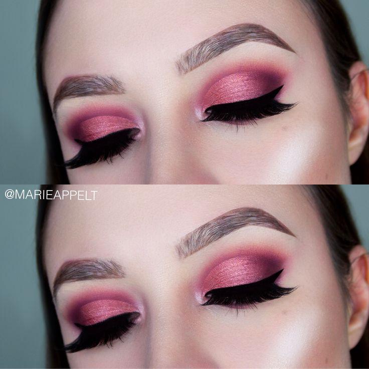 Huda Beauty Mauve Obsession Palette Makeup Tutorial, mauve makeup, mauve, tutorial, obsession, palette, beauty, huda, looks, step by step, half cut crease, cut crease #cutcreasestepbystep