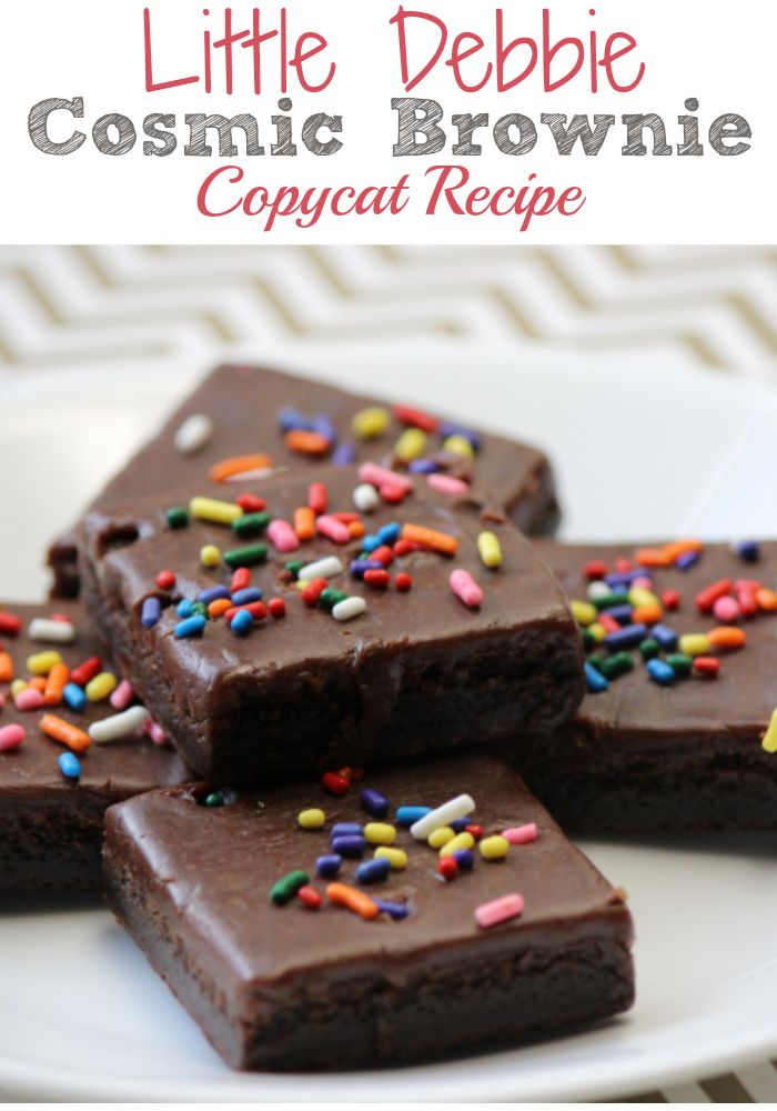 If you like the Little Debbie Brownies, then you'll love these Cosmic Brownies Copycat Recipe!