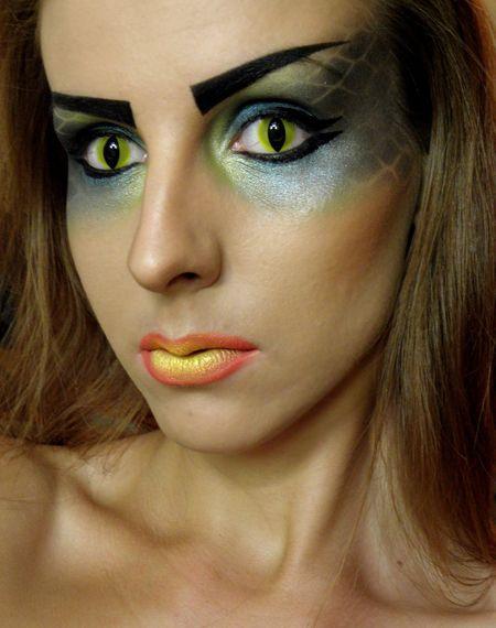 Image result for snake  inspired makeup