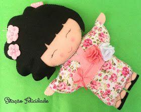 Estação Felicidade: Kokeshis da Lívia Ayumi!!! ;)