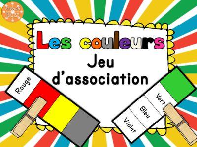 Les couleurs - jeu d'association / French Colours game from French Buzz on TeachersNotebook.com -  (6 pages)  - les couleurs french colours colors matching jeu d'association pratiquer maternelle