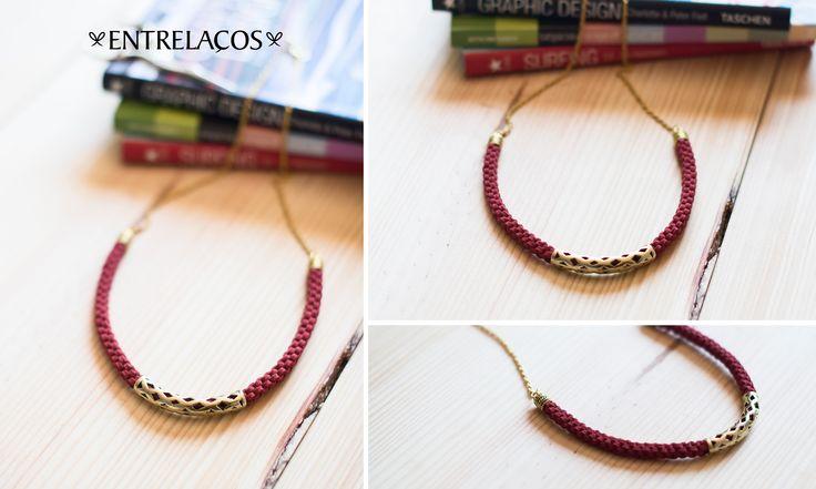 * Necklace Handmade * Woman   www.facebook.com/entrelacoscolaresartesanais  www.etsy.com/pt/shop/Entrelacos?ref=hdr_shop_menu