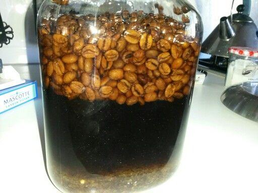 Koffie likeur over 6 weken.