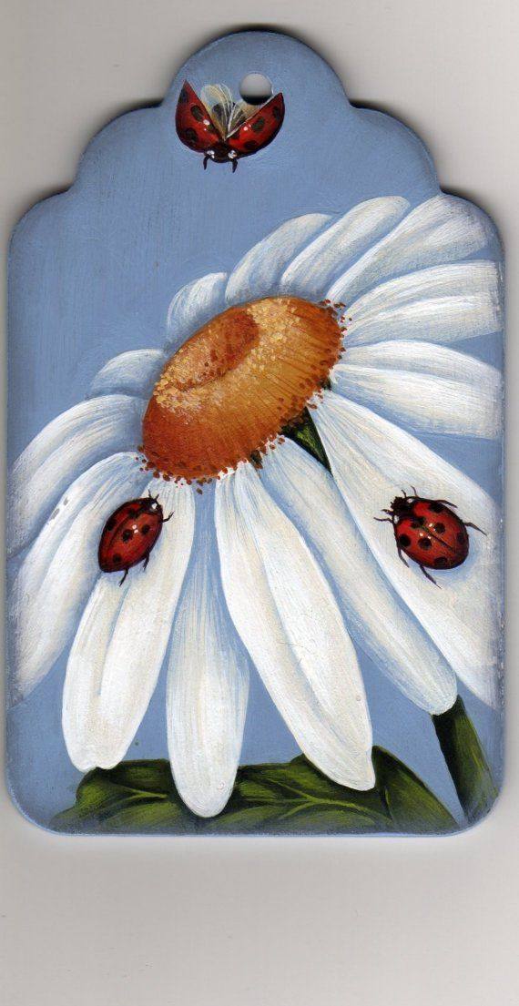 Ladybugs and Daisy Painting Pattern Packet