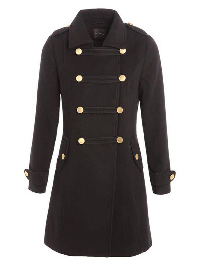 Manteau officier à boutons dorés / 14 manteaux officier pour un hiver stylé