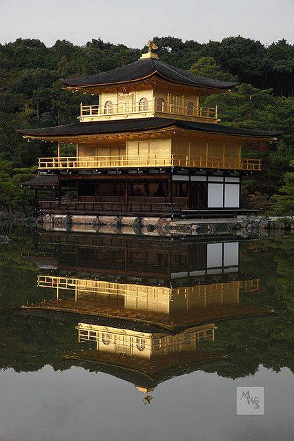 Temple of the Golden Pavilion, Kinkaku-ji Temple, Kyoto, Japan