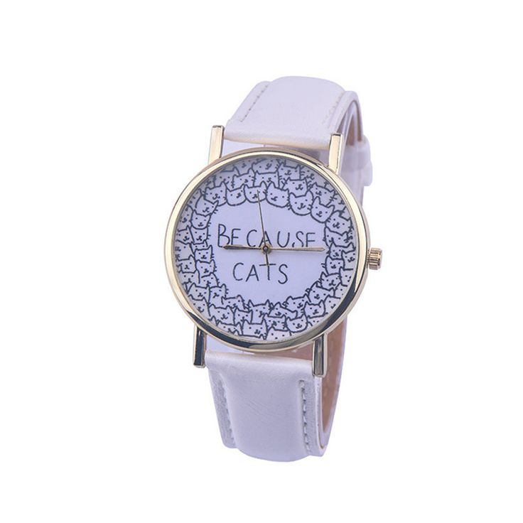 Cheap Watches For Women Vogue BECAUSE CATS Letters Print Quartz Watch Men Dress Hour Clock Relogio Feminino Wholesale Montre-in Women's Watches from Watches on Aliexpress.com   Alibaba Group