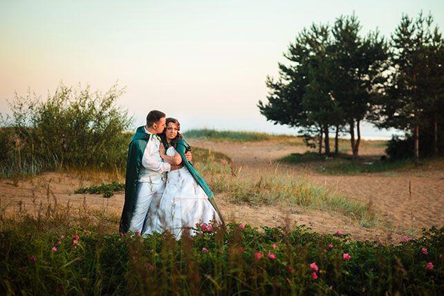 Эльфийская свадьба Екатерины и Ильи, фотосессия жениха и невесты