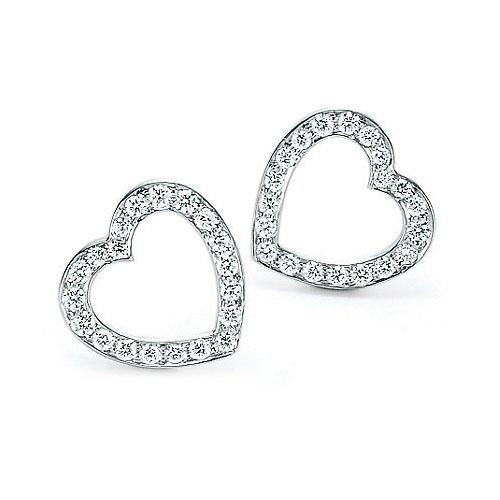 Tiffany Open Heart Diamond Earrings Co Pinterest Fashion And Jewelry