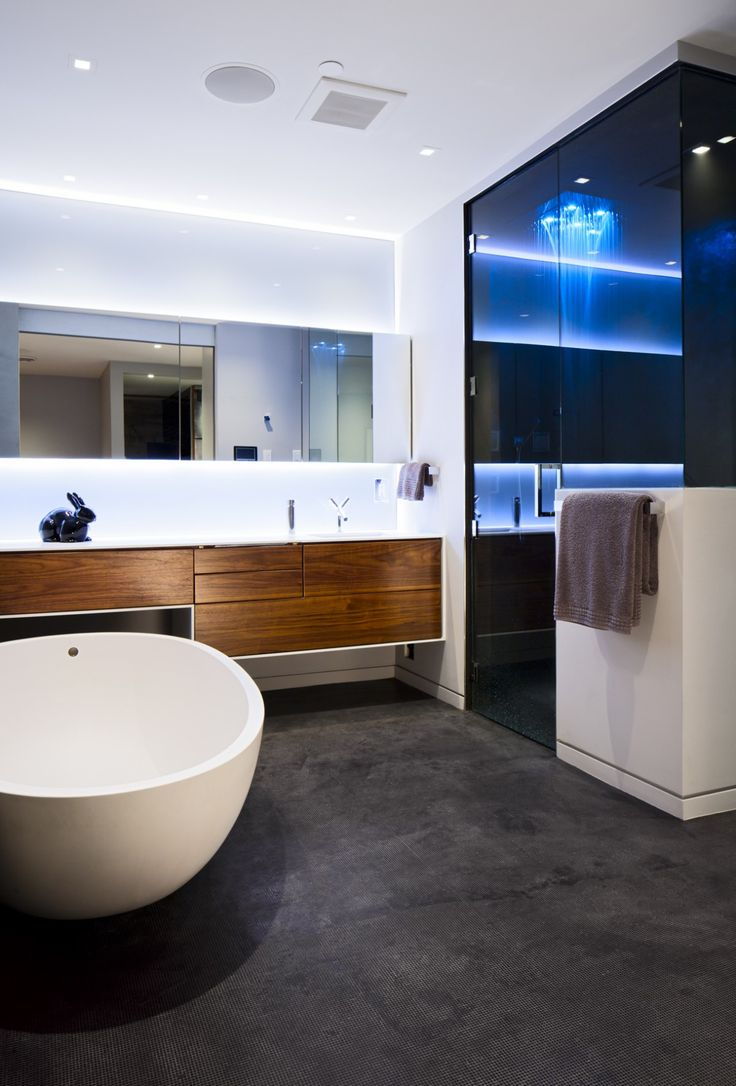 Falken reynolds modern bathroom in our bachelor pad loft for Ultra modern bathroom designs