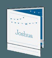 Lief geboortekaartje met vlaggenlijn