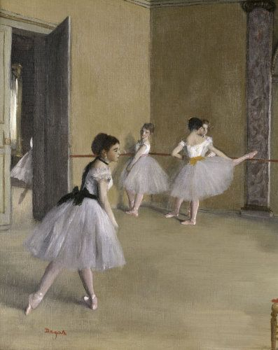 Ballet room at the opera in Rue Le Peletier - Edgar Degas Prints - Easyart.com