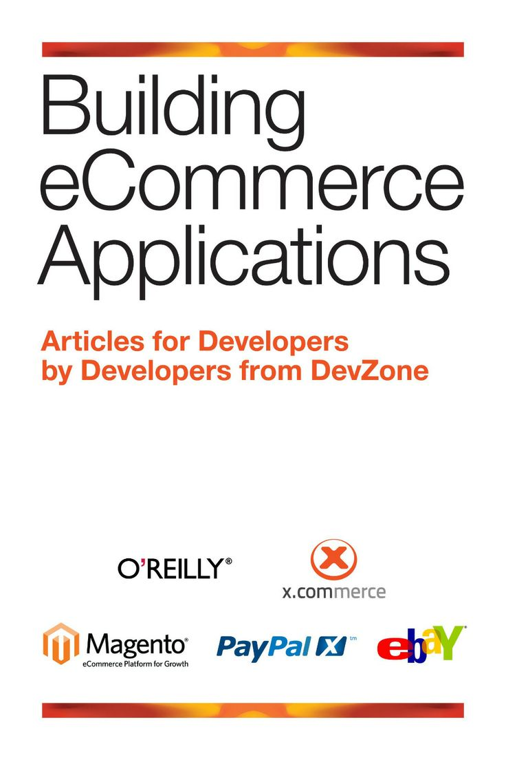 I'm selling Building eCommerce Applications by Developers DevZone - $50.00 #onselz