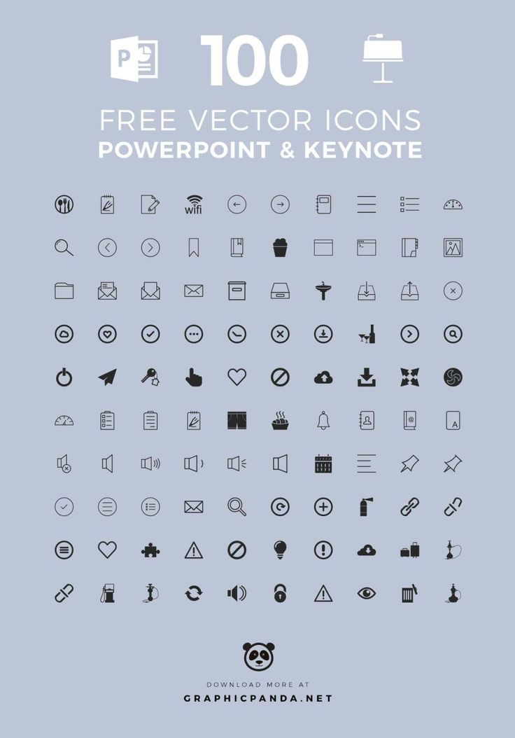 11 best free keynote templates graphicpanda images on pinterest 100 free universal icons for powerpoint and apple keynote yelopaper Image collections