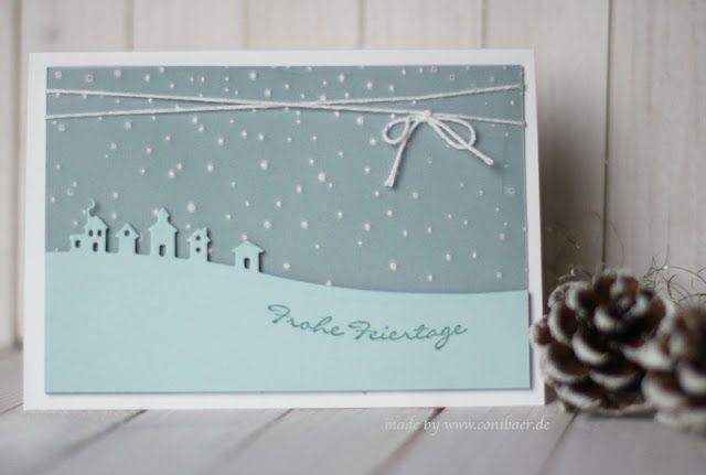 www.conibaer.de - blue christmas card / blaue Weihnachtskarte #Kartenidee für die Kreativbox