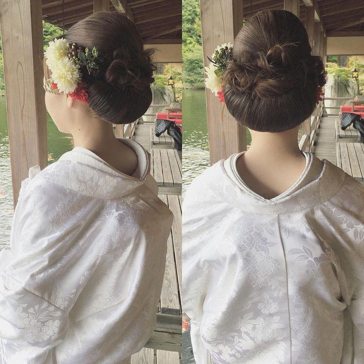 @dsw0211 ・・・・ ・ 色打掛hair♡ ・ ・ #hairarrange #bridal #hair #hairstyle #bridalhair #外国人風ヘアー #ブライダル #ブライダルフォト #ブライダルヘア #ウエディングフォト #igwedding #写真好きな人と繋がりたい #写真撮ってる人と繋がりたい #プレ花嫁 #cute#like4like#beauty#波ウェーブアレンジ#生花#cute #ゆるふわ#ルーズアップ#love#loveit#挙式#挙式ヘア #ルーズアップ#波ウェーブ#くるりんぱ#三景園 #色打掛