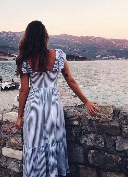 Stripe maxi dress.