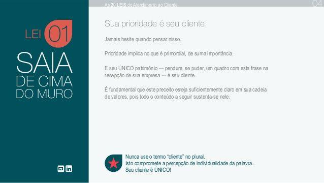 As 20 Leis do Atendimento ao Cliente - Gian Saléro