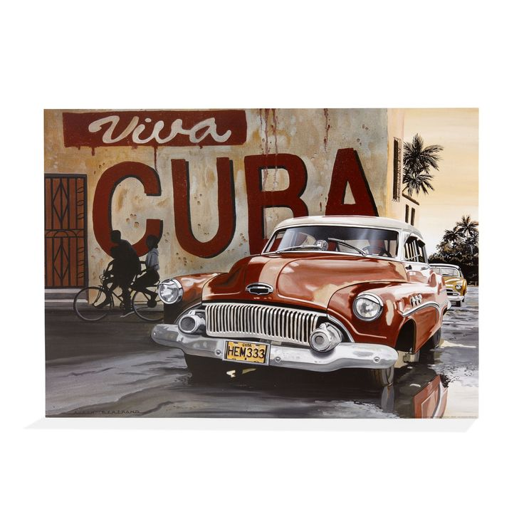 Affiche sous film 60x80cm - Viva Cuba - Les affiches décoratives - Affiches et déco murale - Toute la déco - Décoration d'intérieur - Alinéa #alineaPE2014