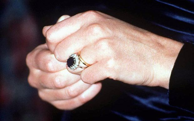 Since the custom was started by the Queen Mother in 1923, Welsh gold has been used for royal brides ever since. This is Diana's ring.