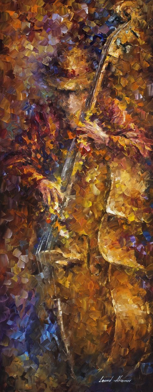 """The sounds of bass"" by Leonid Afremov ___________________________ Click on the…"