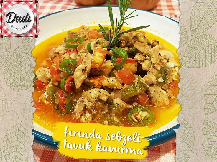 Manavdan özenle seçilen domates, kırmızı ve yeşil biberli günün yemeği missler gibi pişmiş. Fırından çıkmış sebzeli tavuk kavurma, aman bu tadı denemeyi unutma ;)