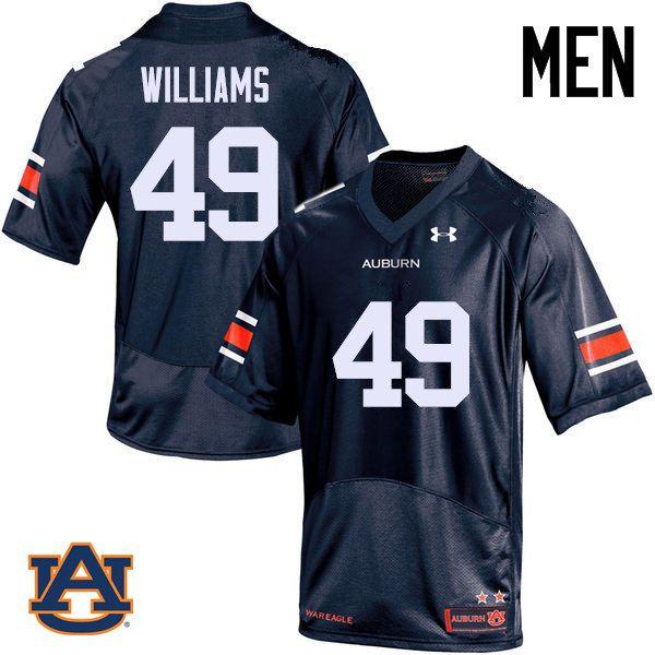the latest a703c 03b56 Men Auburn Tigers #49 Darrell Williams College Football ...