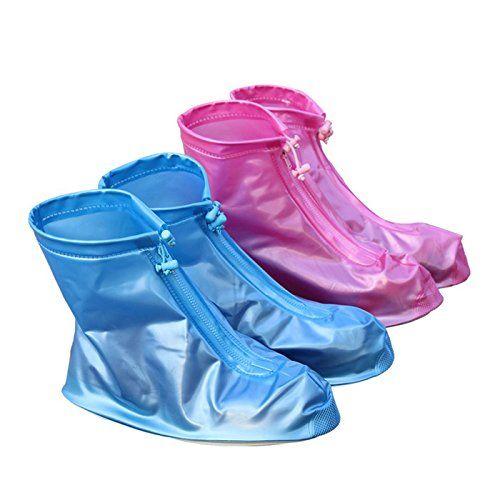 HuntGold 1 Paar Blaue Reise Außene Wasserdicht Flatties Regen Tag Schuhe Durable PVC Material (Größe: L) - http://on-line-kaufen.de/huntgold/huntgold-1-paar-blaue-reise-aussene-wasserdicht-l
