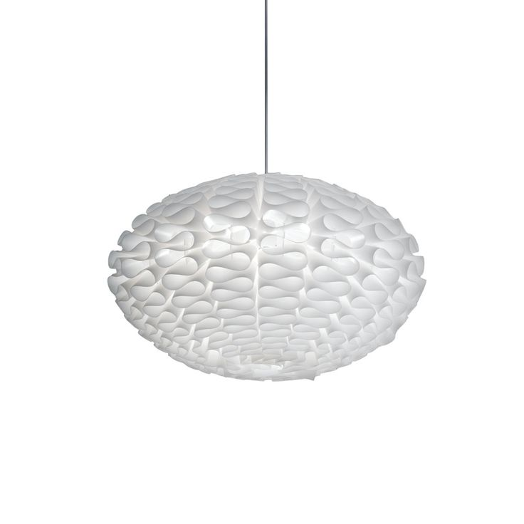 Sculptural Pendant In White. Product: PendantConstruction Material: Metal  And PolypropyleneColor: WhiteAccommodates: 60 Watt Bulb   Not  IncludedDimensions: ...