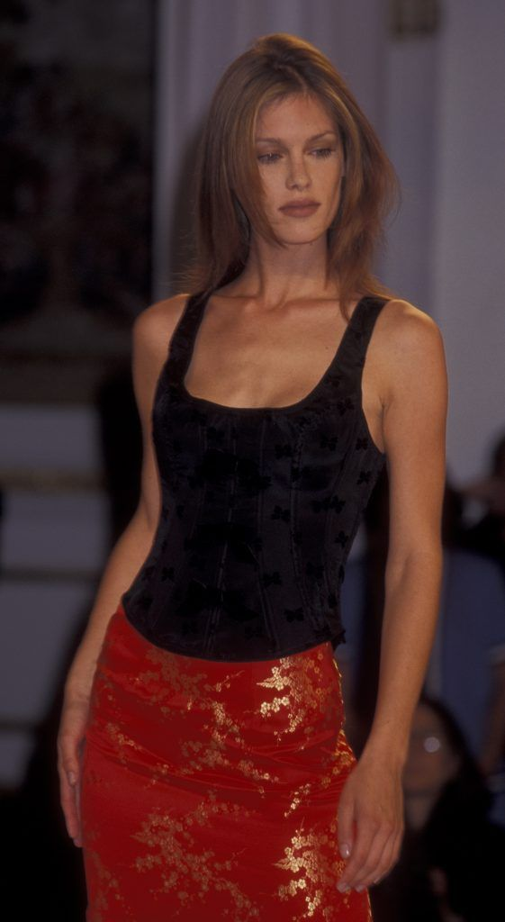 NEW YORK CITY - AUGUST 1: Keri Claussen attends Victoria's Secret Fall Lingere Collection Fashion Show on August 1, 1995 at the Plaza Hotel in New York City. (Photo by Ron Galella, Ltd./WireImage)
