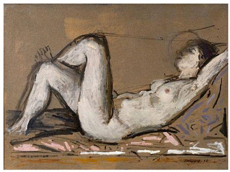 Μόραλης Γιάννης-Reclining nude, 1956