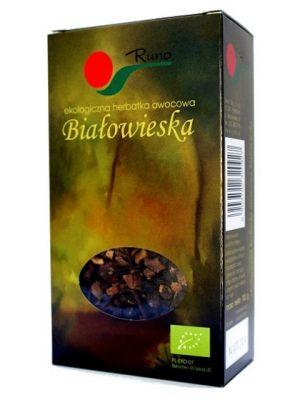 Białowieska Ekologiczna herbatka owocowa  • zawiera owoce czarnego bzu • działa antyseptycznie i bakteriobójczo • działa odprężająco i uspokajająco • wspomaga działanie wątroby
