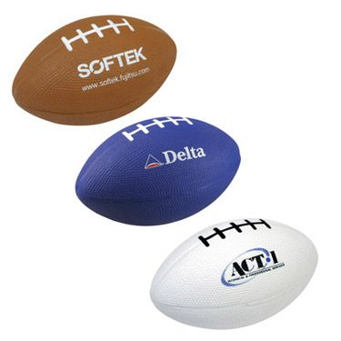Football shaped stressballs - imprint with your logo in time for the Super Bowl!!!    #football   #Super Bowl   #promo