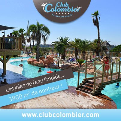 """Offrez-vous le meilleur pour vos vacances !  Sports – Loisirs – Détente - Animation, a chacun ses plaisirs. Give you the best for your holiday!  Sports - Leisure - Relaxation - Animation, each has its pleasures. On the French Riviera, between Cannes and Saint-Tropez, Domaine du Colombier is a huge """"Lagoon"""" beaches and freshwater heated on 3800 m² delight families, Spa and Spa for relaxation and serenity water.  #Domaineducolombier"""