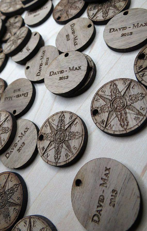 1x1 Custom Wood Tags Custom Knitting Tags