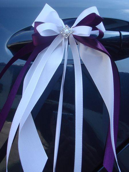 SCH0019 10 Antennenschleifen Autoschleife Hochzeit von unser schönster Tag auf DaWanda.com