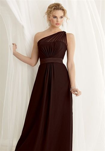Nice shape bridesmaid dress by Jordan #471. Wonder what it would look like in lighter colour...