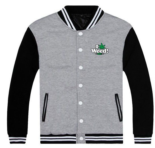 I Weed! DGK Printed Grey Cotton Varsity Jacket