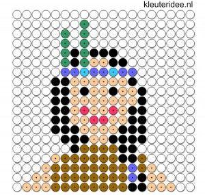 indianenvrouw kralenplank voor kleuters, kleuteridee.nl, beads pattern preschool, free printable