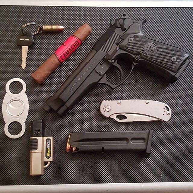 Sunday EDC photo cred: @ducati_wolf #cigarsandguns #cigars #guns #puffpuffpewpew
