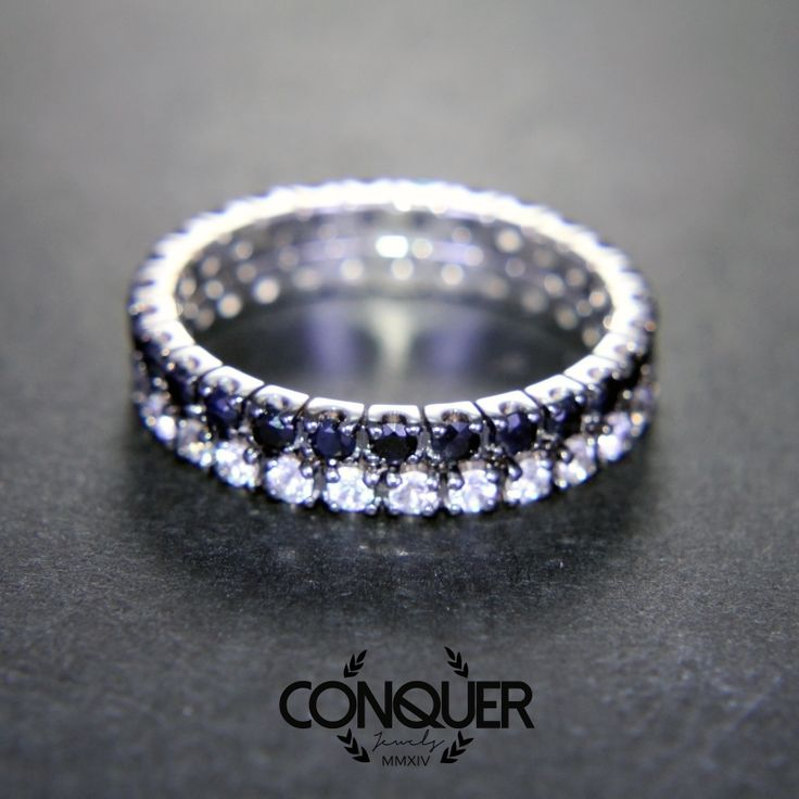 We revistited the timeless classic eternity ring with some affordable and colorfull sapphire! Here place to the basic! Black or White! Which one is your Style?