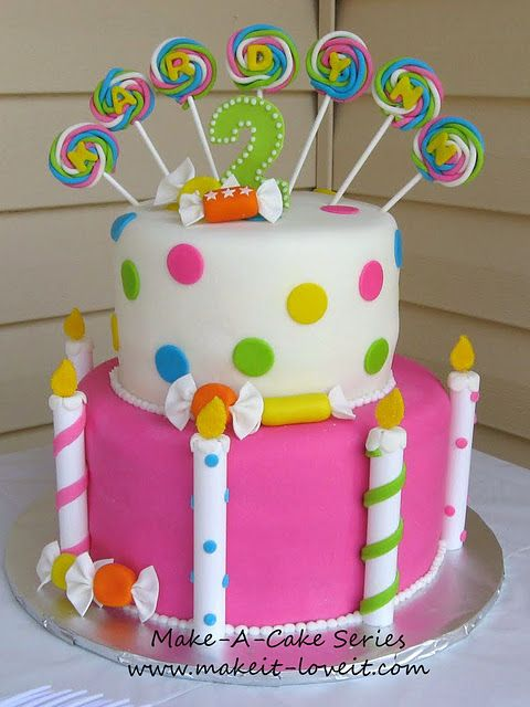 Make-a-Cake : Fondant Candy. Great for candyland theme