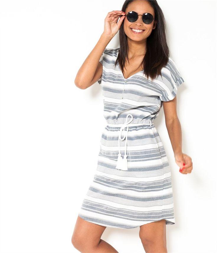 Robes femme Camaieu – robe unie ou fleurie, robes longue ou courte ...