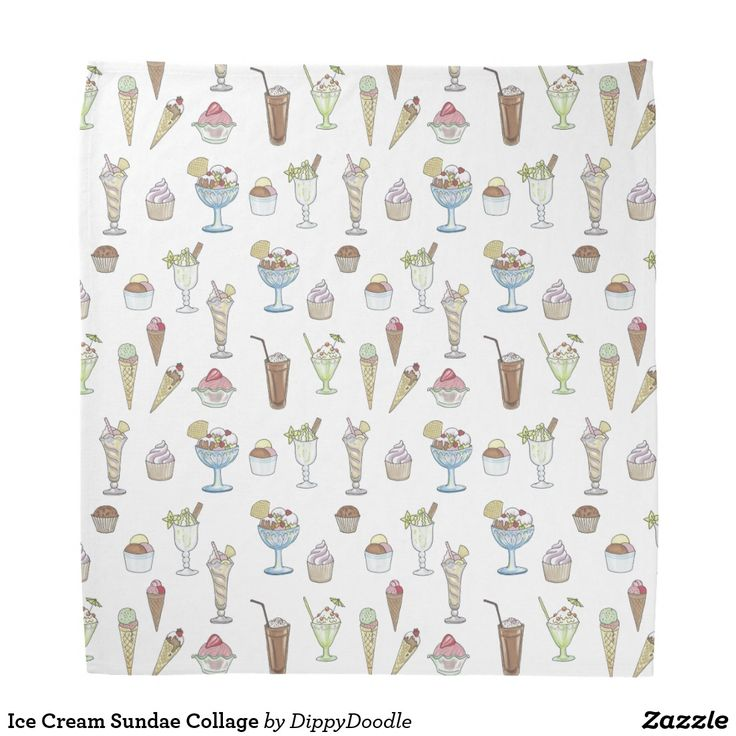 Ice Cream Sundae Collage Bandana