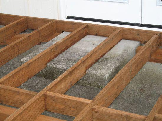 Deck Header Over Concrete Steps